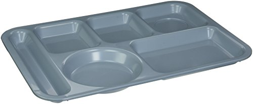 Cafeteria Blue Tray - Carlisle 61459 ABS Left-Hand 6-Compartment Divided Tray, 14