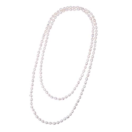 Cultured Freshwater Pearl Endless Necklace Long Beaded Strand