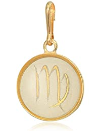 Women's Etching Charm Virgo Small 14kt Gold Plated, Expandable