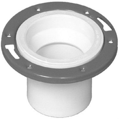 Genova Products 75150 4'' X 3'' Sch. 40 PVC-DWV Closet Flange With Adjustable Ring by Genova Products