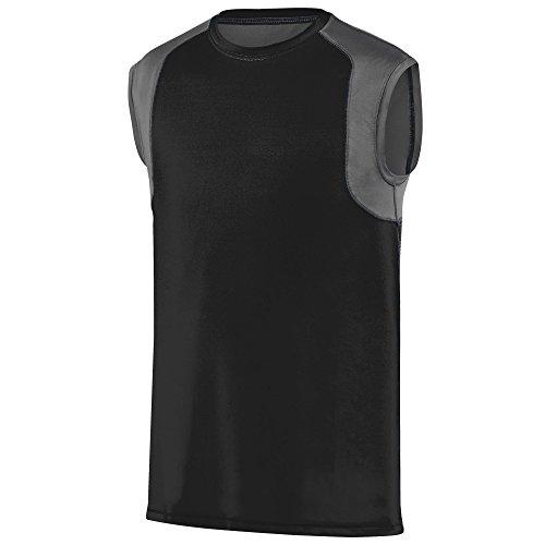 Augusta Sportwear - Camiseta de tirantes - para mujer Negro / Grafito