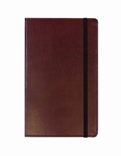 [C.R. Gibson Genuine Bonded Leather Journal, By Markings, Smyth Sewn Binding, Ribbon Marker, Elastic Band Closure, Includes 240 Ruled Pages, Measures 5