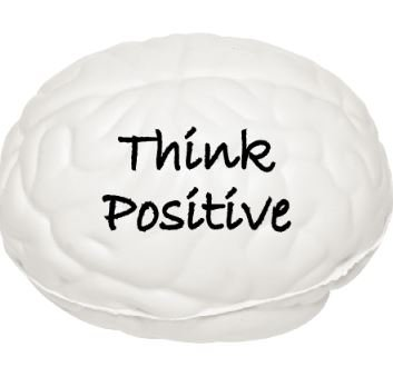 "Brain Stress Relief Ball by Feel Good Goods with ""Think Positive"" motivational quote, White Brain Stress Ball for Hand Therapy Stress Relief Positive Affirmation Therapeutic and Educational"