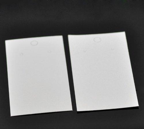 HOUSWEETY 100pcs White Earrings Jewelry Display Cards 9x5cm 3 4 8 x2