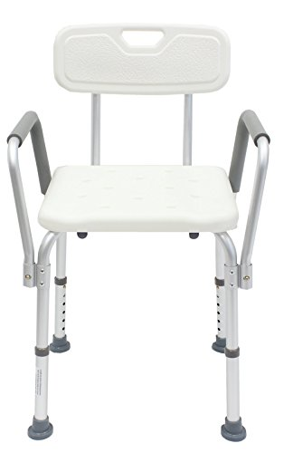 Duschstuhl m Armlehne Badestuhl Badhocker Duschhocker 150 kg Duschhilfe