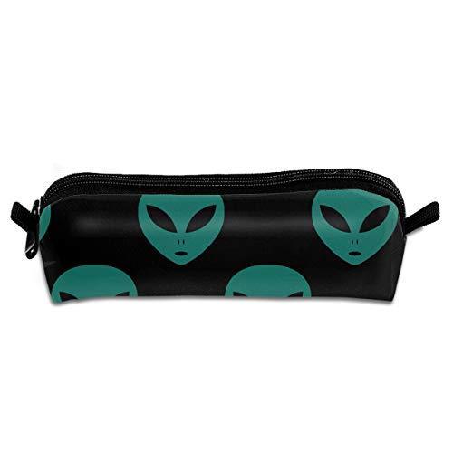 EQAZV Blue Aliens Face Printed Makeup Pouch Cosmetics Bag Key Bag Coin Purse Stationery Case Pencil -