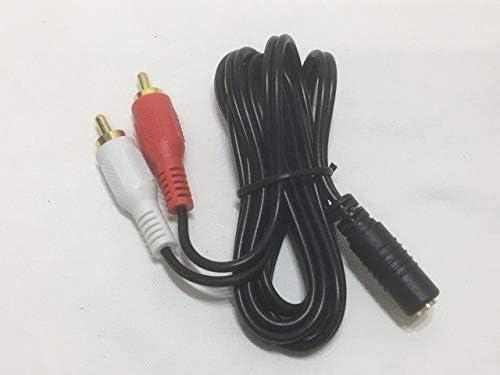 ステレオピン(メス)-ステレオミニ(オス)変換ケーブル 1.0m RCA×2-φ3.5mm 417290