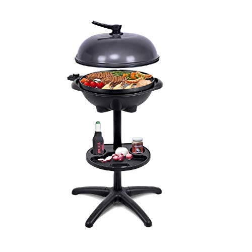 Kartsy Electric Grill 1350 W Indoor/Outdoor, Nonstick Removable Bowl Perfect for Picnic and Party