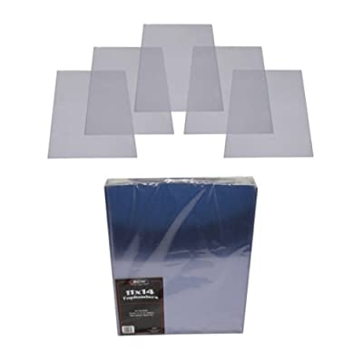 (1) 11x14 Lithograph Topload Holders - Rigid Plastic Sleeves - BCW Brand: Sports & Outdoors