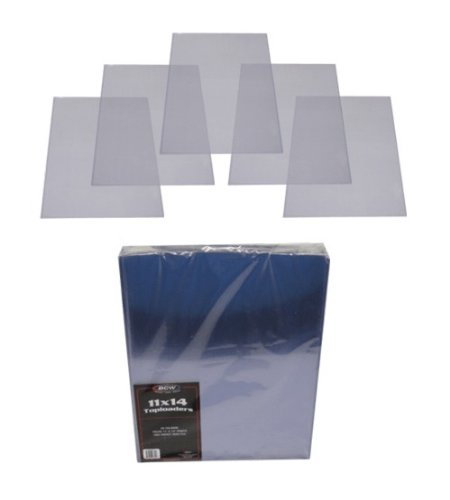 (1) 11x14 Lithograph Topload Holders - Rigid Plastic Sleeves - BCW Brand