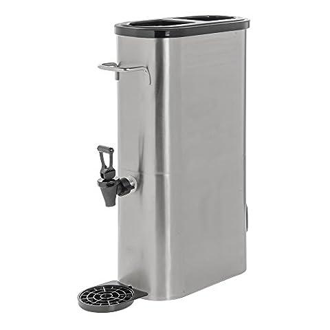 HUBERT 3 gal Slim Stainless Steel Iced Tea Dispenser - 3 Gallon Iced Tea