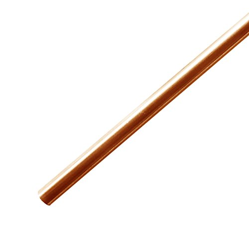 """Copper Rod 3/16 (0.187"""") Diameter - 12 Long - for Metal Crafting, Hobbies, Knife Making - 99% Solid Copper…"""