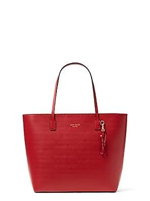 Kate Spade Sawyer Street Tori Smooth Leather Tote Shoulder Bag Purse Handbag (Red)