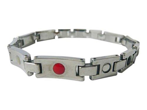 Bioexcel Tungsten Quantum Energy Magnetic Bracelet - Silver Plain Tab Design (Female)