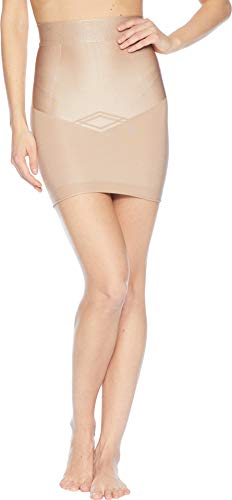 - Yummie Women's Seamless Firm Control Shapewear Skirt Slip, Almond M