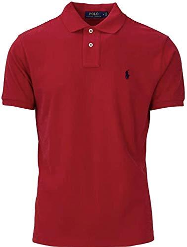 ns Custom Slim Fit Mesh Polo T-Shirt (M, RL2000 RED) ()