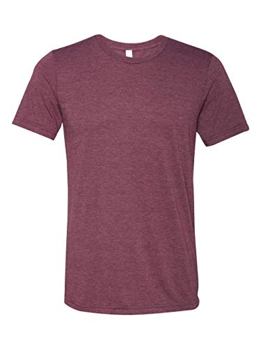 Birdie Canvas - Bella mens Unisex Triblend Short-Sleeve T-Shirt(3413C)-MAROON TRIBLEND-S