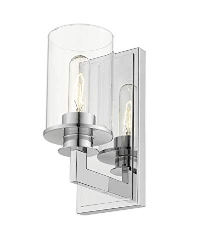 Z Lite 462 1s Bn Savannah 1 Light Wall Sconce Brushed Nickel Finish With Clear Glass Amazon Com Industrial Scientific