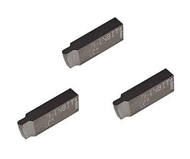 Aluminium and Plastic THINBIT 3 Pack LGTF060D53004 0.060 Width 0.150 Depth 0.300 Major Diameter Uncoated Carbide Sharp Corner Face Grooving Insert for Non-Ferrous Alloys