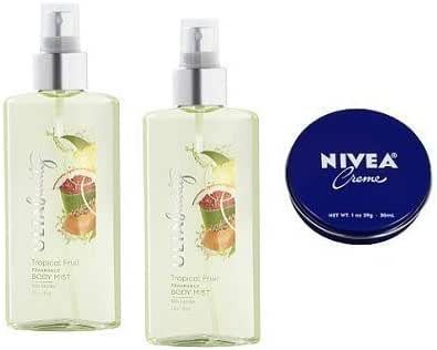 Ulta 2 Pack Tropical Fruit Fragrance Body Mist 6 Oz. Travel Size Cream 1 Oz.