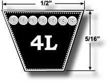 4L540 Kevlar Mower V Belt