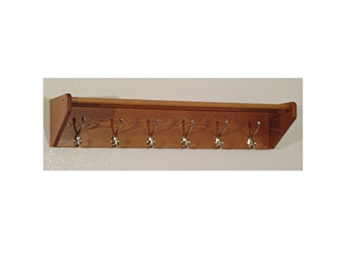 6 Hook Shelf by Wooden Mallet