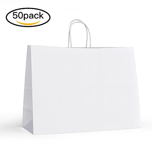 halulu-50-pcs-16x6x12-kraft-white-paper-handle-shopping-gift-merchandise-carry-retail-bags