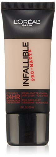 L'Oreal Paris Infallible Pro-Matte Foundation Makeup, 101 Classic Ivory, 1 fl. oz.