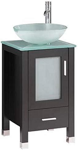 Amazon Com Dark Brown Espresso Bathroom Vanity W Raised Glass