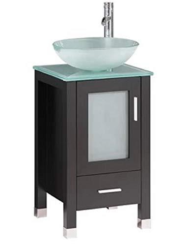 Belevedere Bath Dark Brown Espresso Bathroom Vanity w/Raised Glass Sink Bowl | - Mirrors Chelsea Bathroom Vanity