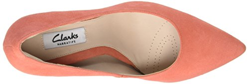 Clarks Women's Dinah Keer Closed-Toe Pumps Orange (Coral Suede) gdTMTvqQ8