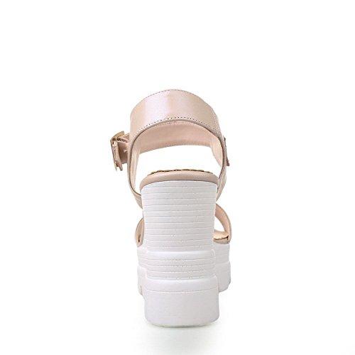 Balamasa Damer Amerikansk Muffin Buttom Spänne Mjukt Material Sandaler Rosa