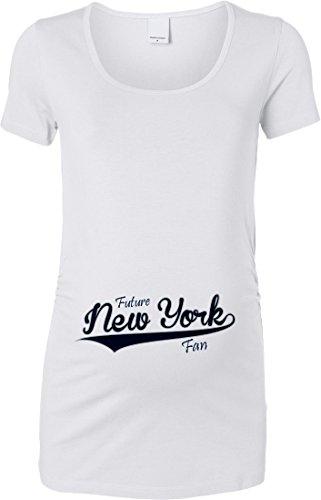 0a984d3d87b89 Future New York Sports Fan Women's Maternity T-Shirt (White, 2X-Large