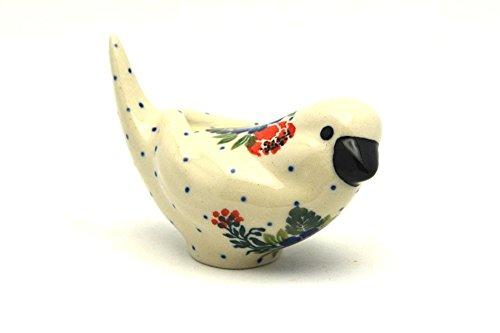 Polish Pottery Bird Figurine - A - Garden Party