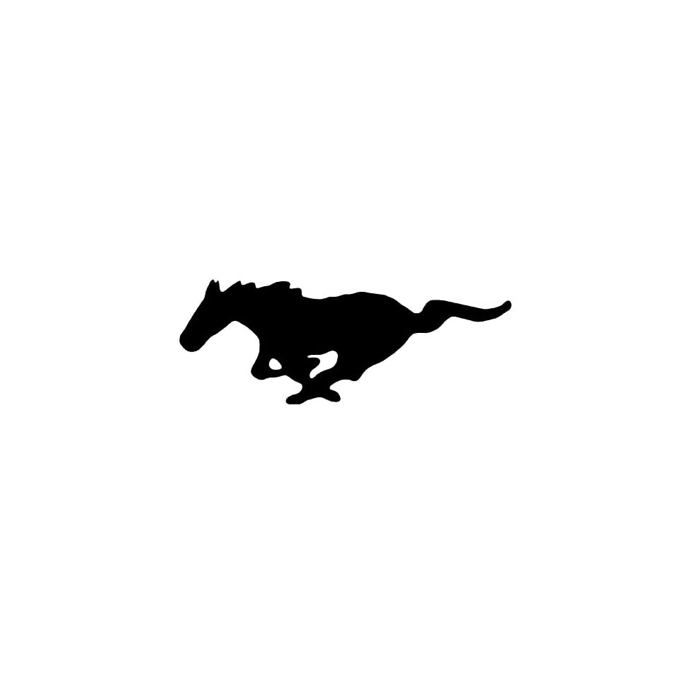 Ford Mustang Logo 5 Inch White Decal Sticker