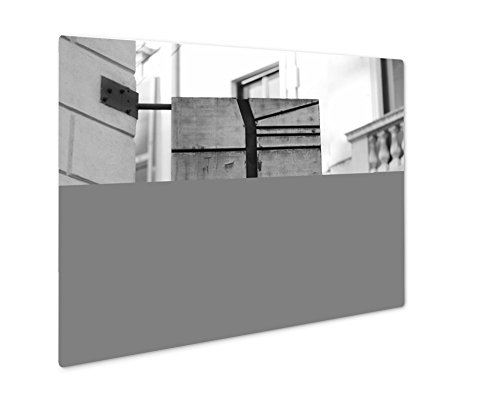Ashley Giclee Flag Sign Of The Most Famous Fashion Street In Milan Italy, Wall Art Photo Print On Metal Panel, Black & White, 24x30, Floating Frame, AG5901022