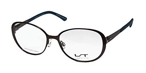 Lightec By Morel 7010l Mens/Womens Butterfly Full-rim Flexible Hinges Stainless Steel Premium Trendy Eyeglasses/Spectacles (53-16-135, ()