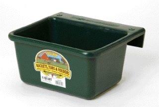 Little Giant 6-Quart Dura-Flex Plastic Feeder, Mini, Green (Hook Over Feeder)