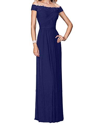 Brautmutterkleider Abendkleider Royal Brautjungfernkleider Dunkel Abschlussballkleider Damen Charmant Blau Spitze Weinrot Kurzarm w44X76