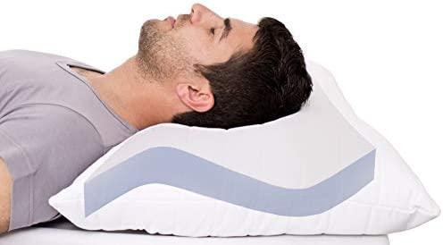 Almohada antirronquidos AGIA TEX, almohada ortopédica reposacabezas 40 x 80 cm, certificado Öko-Tex 100, Weiß, 40 x 80 cm