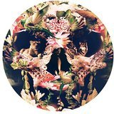 Fashionable Floral Skull Cool Design Round Mouse Pad 7.87 x 7.87 inch