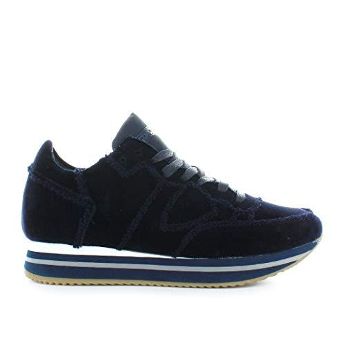 Chaussures Baskets Philippe Hiver Higher Tropez Model Bleu Femme 2019 Automne Velour TZxwx5qAt