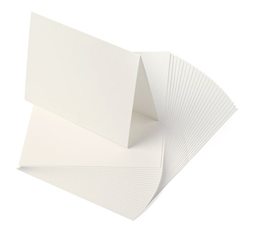 (Crane's Lettra 100% Cotton Scored/Folded Cards 300gsm/110lb (200 Qty) (9x6.25 (A6), Pearl White))