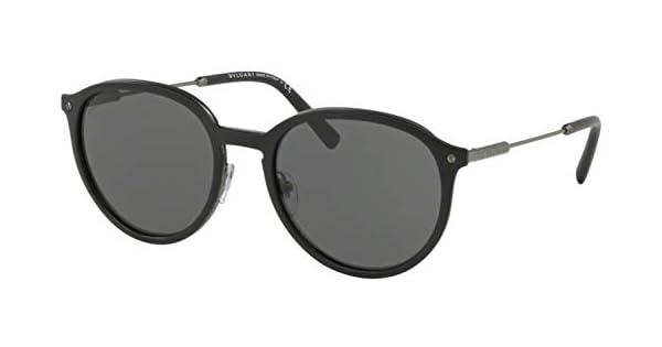 Amazon.com: Gafas de sol Bvlgari BV 5045 195/87 mate negro ...