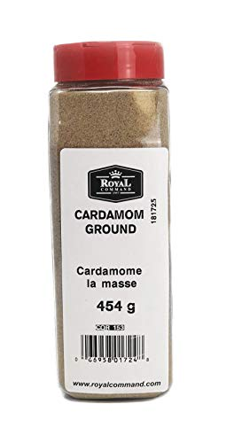 Royal Command Cardamom Ground - 1lb (454 g) | Gourmet, Premium Quality, All Natural Spice - Bulk -