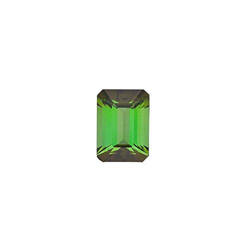 Tourmaline 6x4mm Emerald - Emerald Shape Green Tourmaline Gemstone Grade AAA, 6.00 x 4.00 mm in Size, 0.6 Carats