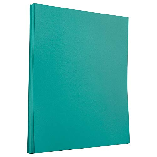 JAM PAPER Colored 24lb Paper - 8.5 x 11 - Sea Blue Recycled - 100 Sheets/Pack