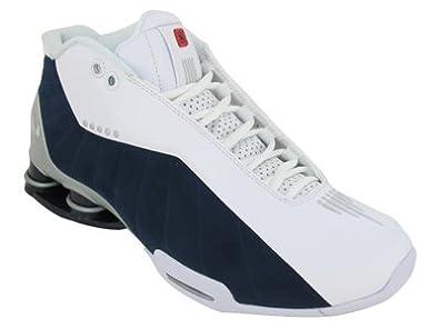 Amazon.com | Nike Shox BB4 Mens Basketball Shoes 376918-100 White 9.5 M US  | Basketball