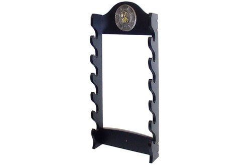 Deluxe 6 Tier Wall Mounted Sword Display Stand with Samurai Logo (Sword Wall Display Single)