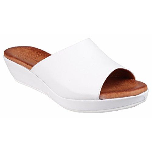 Riva Carlita Slip on Mule Sandal White - 38
